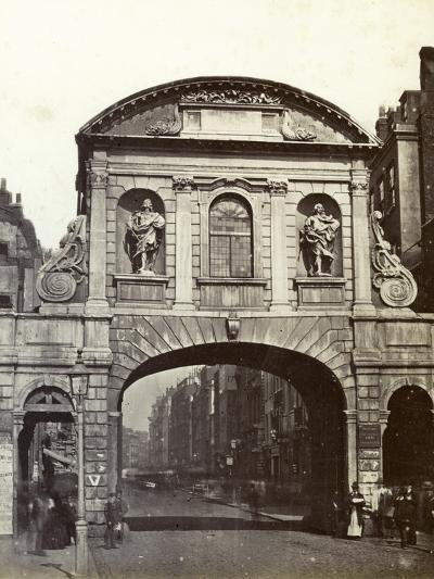 Temple Bar, London, 19th Century--Photographic Print