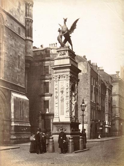 Temple Bar, London, C.1885--Photographic Print