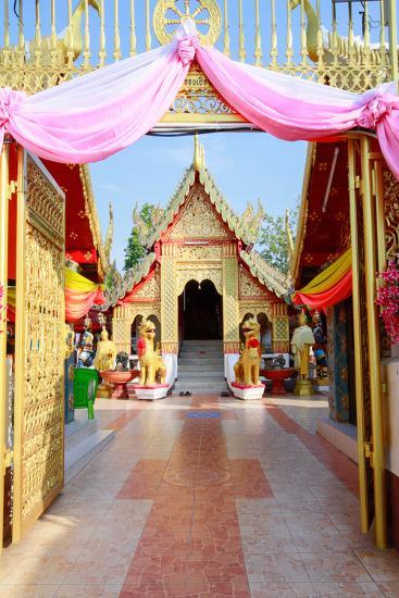 Temple Bot at Doi Kham (Wat Phra That Doi Kham) (Temple of the Golden Mountain), Chiang Mai-Alex Robinson-Photographic Print
