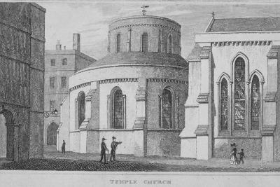Temple Church, City of London, 1800--Giclee Print