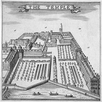 Temple, City of London, 1750--Giclee Print