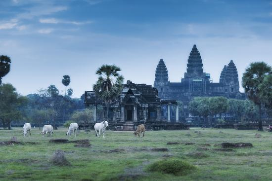 Temple Complex of Angkor Wat, Angkor, UNESCO World Heritage Site, Siem Reap, Cambodia, Indochina-Andrew Stewart-Photographic Print