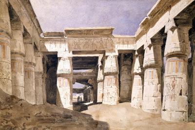 Temple De Khons, Karnack, Egypt, 19th Century-Hector Horeau-Giclee Print