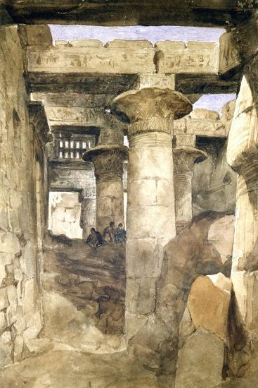 Temple De Khons, Karnack, Egypt, 19th Century- Rameses III-Giclee Print