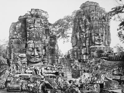 Temple du Bayon, terrasse supérieure (partie nord) : deux tours à visage--Giclee Print