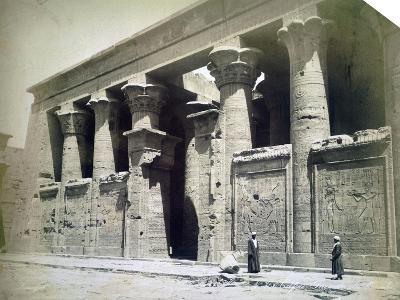 Temple Facade, Edfu, Egypt, 19th Century- Langaki-Giclee Print