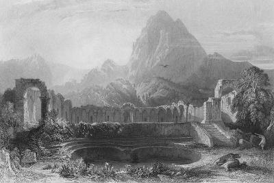 Temple & Fountain at Jagwhan, c19th century-James Redaway-Giclee Print