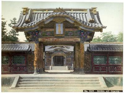 Temple Gate, Shiba, Tokyo, Japan, Early 20th Century--Giclee Print
