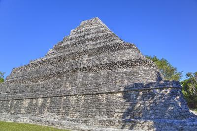 Temple I, Chaccoben, Mayan Archaeological Site-Richard Maschmeyer-Photographic Print