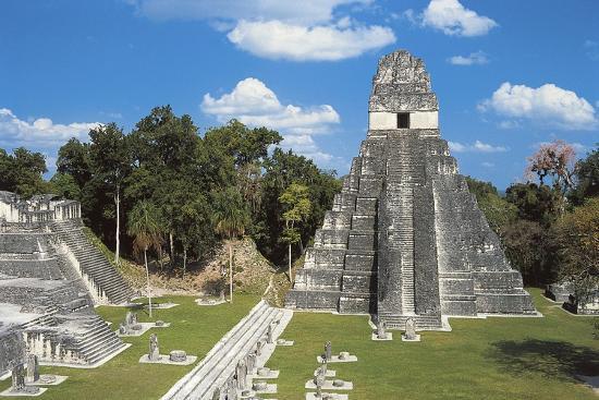 Temple I or Temple of Jaguar, Archaeological Site of Tikal, Tikal National Park--Photographic Print