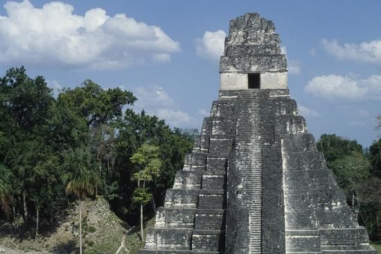 Temple I or Temple of Jaguar, Archaeological Site of Tikal, Tikal National Park--Photographic Print