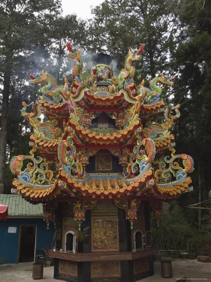 Temple in Cedar Forest, Alishan National Forest Recreation Area, Chiayi County, Taiwan-Christian Kober-Photographic Print