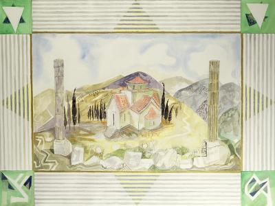 Temple in Hosios Lukas Country from the Greek Experience Series, 1989-Michael Chase-Giclee Print