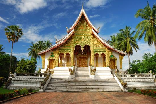 Temple in Luang Prabang Museum, Laos-lkunl-Photographic Print