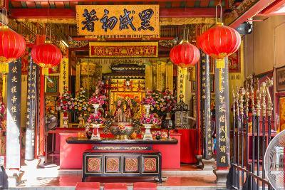 Temple in the City of Kuching, Borneo, Malaysia-Michael Nolan-Photographic Print