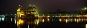 Temple Lit Up at Night, Golden Temple, Amritsar, Punjab, India