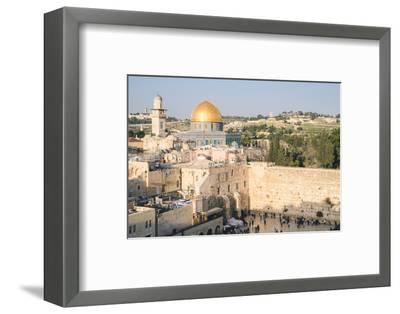 Temple Mount, Dome of the Rock, Redeemer Church and Old City in Jerusalem, Israel, Middle East-Alexandre Rotenberg-Framed Photographic Print