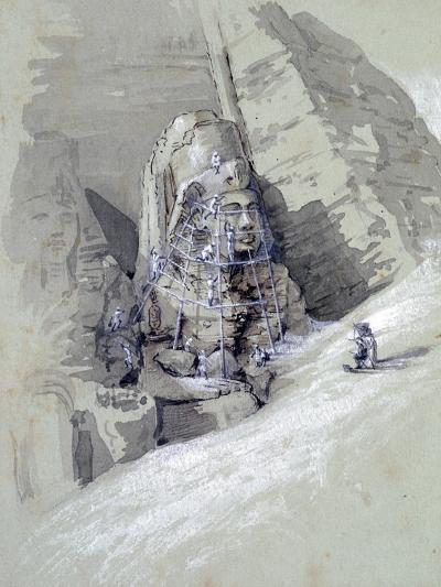 Temple of Aboo Simbel, 19th Century-Amelia Edwards-Giclee Print