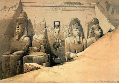 Temple of Abou Simbel-David Roberts-Art Print