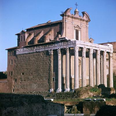 Temple of Antoninus and Faustina, 2nd Century-CM Dixon-Photographic Print