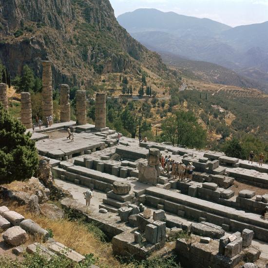 Temple of Apollo at Delphi, 6th century BC. Artist: Unknown-Unknown-Photographic Print
