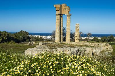 Temple of Apollo at the Acropolis, Rhodes, Dodecanese, Greek Islands, Greece, Europe-Michael Runkel-Photographic Print