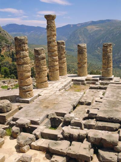 Temple of Apollo, Delphi, Greece, Europe-Ken Gillham-Photographic Print