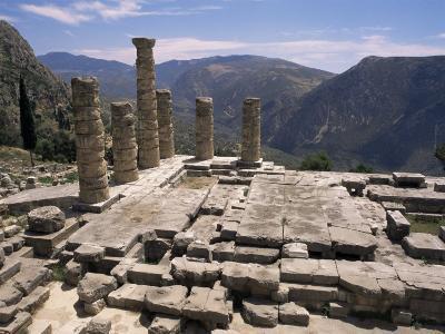 Temple of Apollo, Delphi, Unesco World Heritage Site, Greece-Ken Gillham-Photographic Print