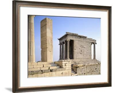 Temple of Athena Nike at Acropolis in Athens, Greece, 5th Century BC--Framed Giclee Print