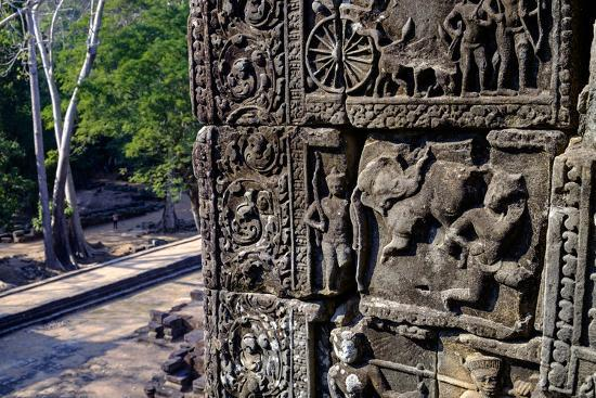 Temple of Baphuon, Built by King Udayaditiavarman Ii in the Mid-11th Century, Restoration Work-Nathalie Cuvelier-Photographic Print