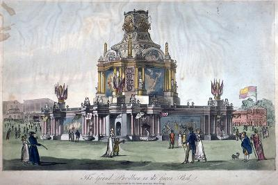 Temple of Concord, Green Park, Westminster, London, 1814--Giclee Print