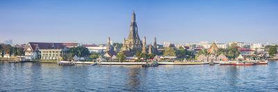 Temple of Dawn (Wat Arun) and Bangkok, Thailand-Jon Arnold-Photographic Print