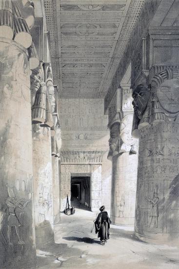 Temple of Denderah, Egypt, 19th Century-Henry Pilleau-Giclee Print