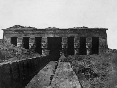 Temple of Denderah, Upper Egypt, 1852-Maxime Du Camp-Giclee Print