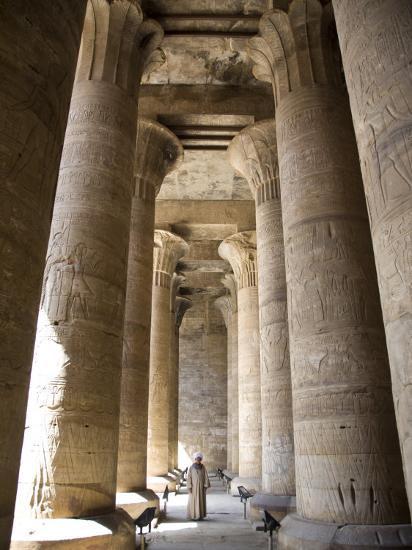 Temple of Edfu, Egypt, North Africa, Africa-Olivieri Oliviero-Photographic Print