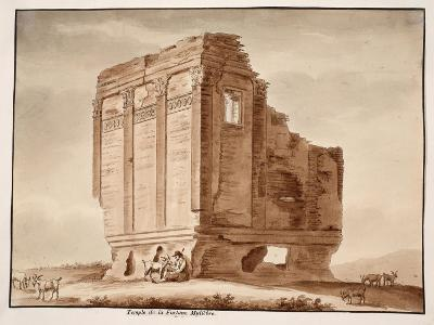 Temple of Fortuna Muliebre, 1833-Agostino Tofanelli-Giclee Print