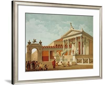 Temple of Fortune, Pompei, Volume IV, Restoration Essays, Plate XII-Fausto and Felice Niccolini-Framed Giclee Print