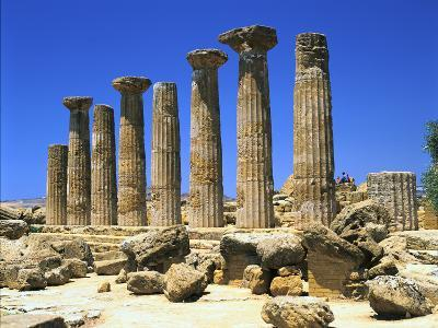 Temple of Hercules, Agrigento, Sicily, Italy-Peter Thompson-Photographic Print