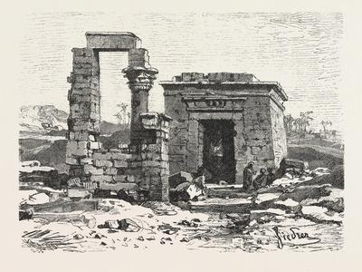Temple of Hermonthis, Egypt, 1879--Giclee Print