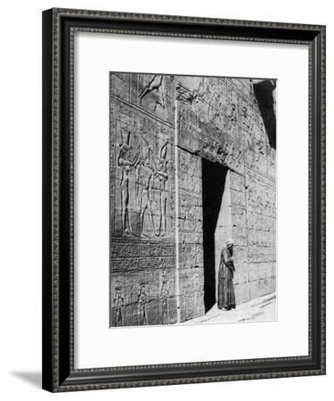 Temple of Horus, Edfou, Egypt, 1935--Framed Giclee Print