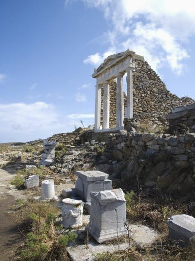 Temple of Isis, Island of Delos, Cyclades, Greek Islands, Greece, Europe-Angelo Cavalli-Photographic Print