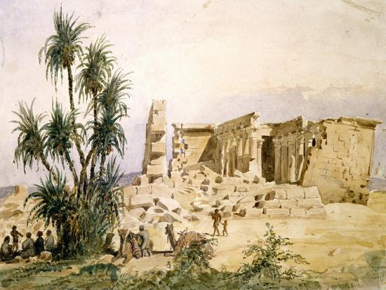 Temple of Maharraka, Egypt, 19th Century-Hector Horeau-Giclee Print