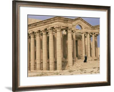 Temple of Mrn, Hatra, Unesco World Heritage Site, Iraq, Middle East-Nico Tondini-Framed Photographic Print