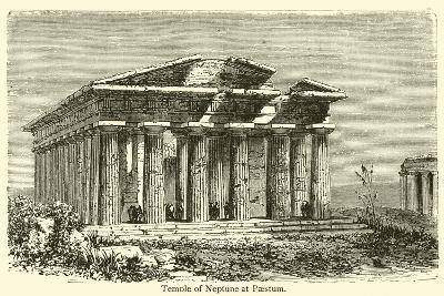 Temple of Neptune at Paestum--Giclee Print