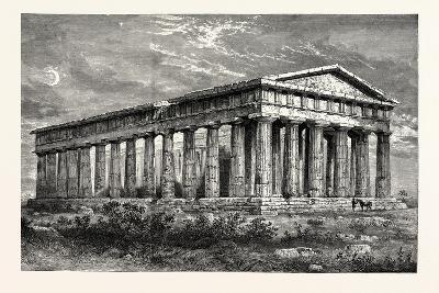 Temple of Neptune Paestum--Giclee Print