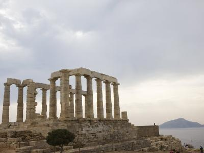 Temple of Poseidon, Cape Sounion, Greece, Europe-Angelo Cavalli-Photographic Print
