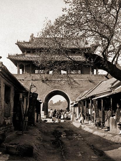 Temple of the Drum -  Qufu - Confucius Birth City-A. Larz-Photo