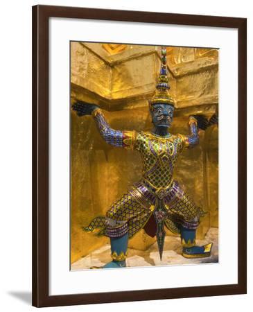 Temple of the Emerald Buddha, Grand Palace, Bangkok, Thailand-Nico Tondini-Framed Photographic Print