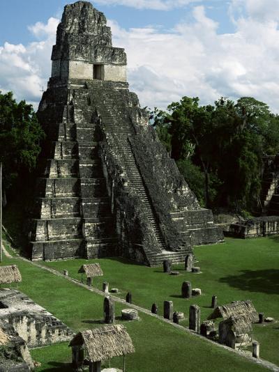 Temple of the Great Jaguar in the Grand Plaza, Mayan Ruins, Tikal, Peten-Robert Francis-Photographic Print