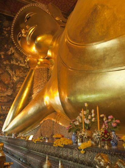 Temple of the Reclining Buddha, Bangkok, Thailand-Nico Tondini-Photographic Print